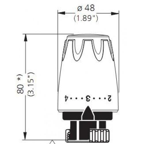 Heimeier głowica termostatyczna DX wymiary