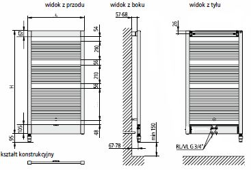 grzejnik azienkowy kermi credo uno v. Black Bedroom Furniture Sets. Home Design Ideas
