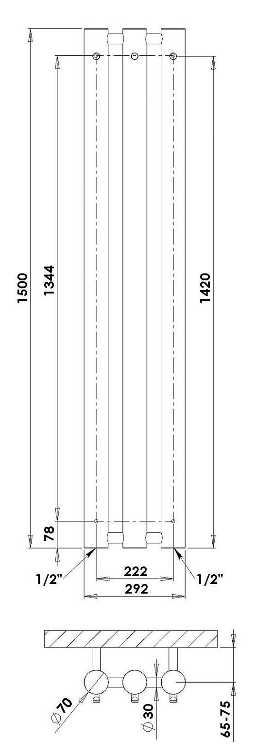 PMH Rosendal Massive wymiary