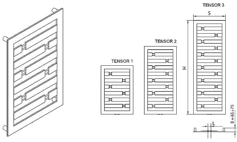 Radeco Tensor wymiary